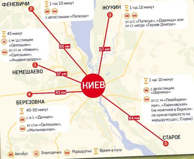 П'ятірка грибних місць Київської області