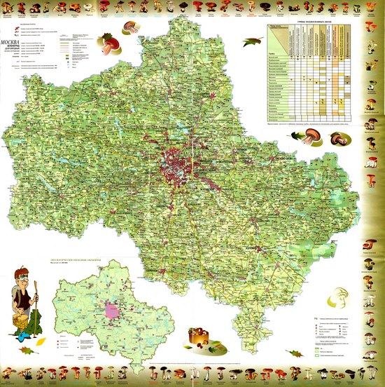 Карта грибника Підмосков'я