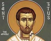 Святий Тит - апостола від сімдесяти, учня святого Павла - народився на острові Крит в сім'ї язичників, пізніше звернувся в християнство і, згідно з переказами, до своєї смерті в 107 році був єпископом