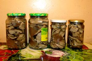 Маринування грибів, зберігання маринованих грибів