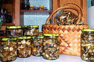 Варка грибів окремо від маринаду