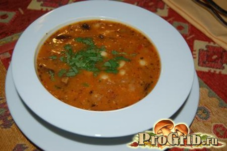 Суп приготований з польського гриба