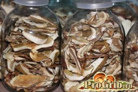 Зберігання білих грибів