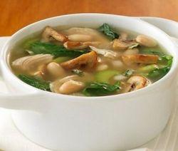 Суп грибний з галушками